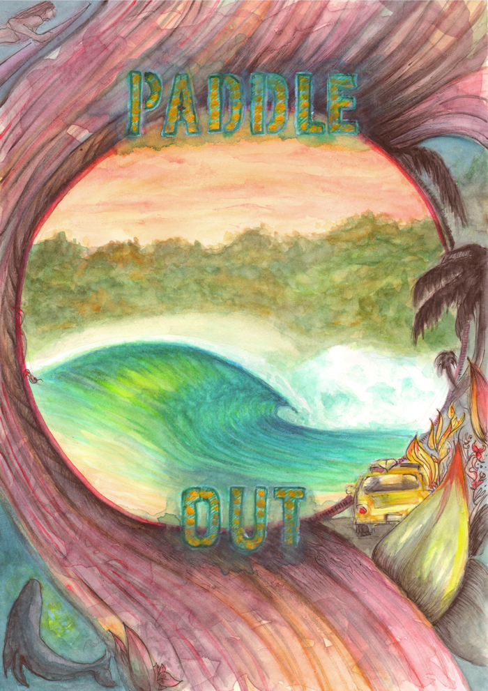 paddle out illustration