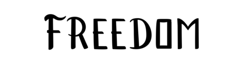 freedom lettering