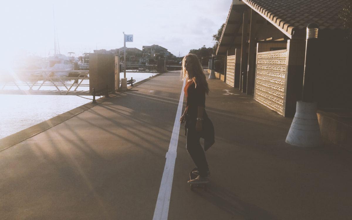 lena singla skateboarding