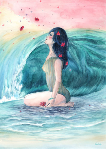 cold wave lena singla watercolor art