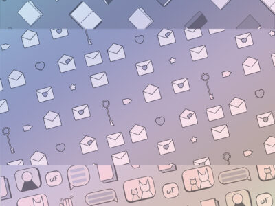 email messaging books icons pattern